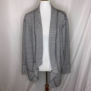 Chico's Zenergy Open Front Striped Cardigan